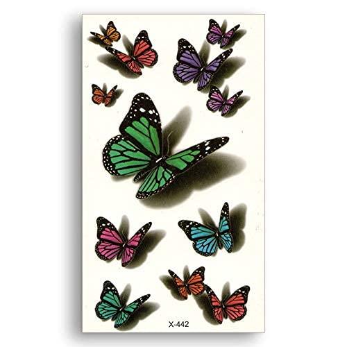 YACHAO Impermeabile Adesivi Temporanei Trasferimento dell'Acqua Tatuaggio Finto Donne Body Art Farfalla 3D Fascino Colore Trucco Complementi Arredo Casa Polso