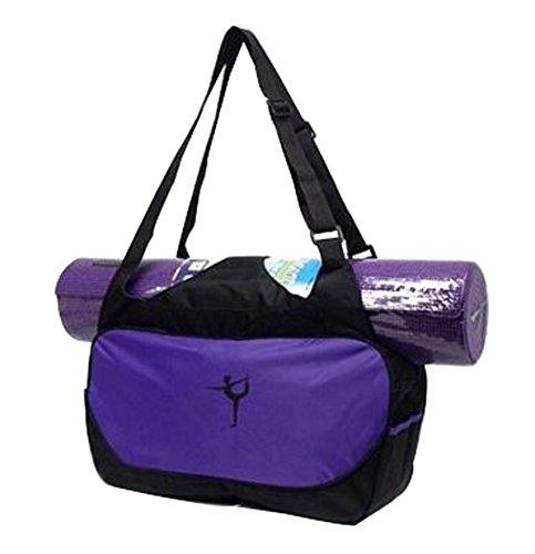 BLANCHO BEDDING Multifonction Yoga Mat Sac fourre-Tout: Léger, Durable, Respirante Pouch Violet #01