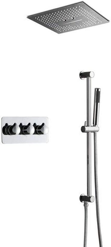 Industry No. 1 JF-XUAN Shower quality assurance Bath Set Thermostatic Showe Concealed LED