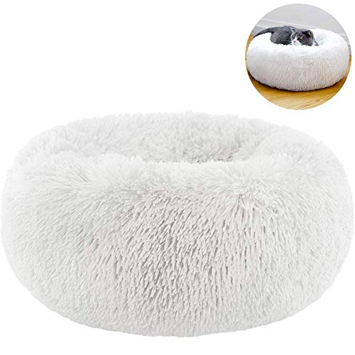 TINTON LIFE Luxury Faux Fur Pet Bed for Cats Small Dogs Round...