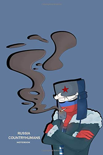 Russia Countryhumans: Lind Countryhumans notebook , hand artwork glossy cover painted by Blaykinn , large Lind 120 pages 6x9 inch