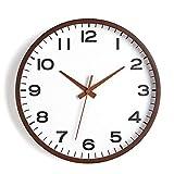 YANGYUAN Elegante reloj de pared silencioso fácil de leer, números grandes, ideal para sala de estar, dormitorio, oficina, reloj simple de pared, reloj de pared (color: O, tamaño: 35,5 cm)