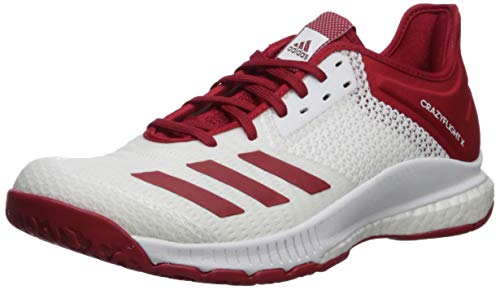 adidas Women's Crazyflight X 3 Volleyball Shoe, Power Red/White, 11 M US