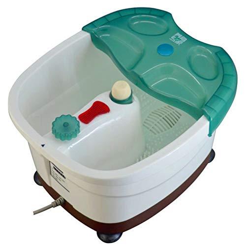 Todo en uno Hidromasaje de pies,Automático Masaje Masajeador spa para pies,Masajeador de baño de spa Remojo Con el calor Pies pedicura Cubo Burbujas Vibración Lavabo de pie-A