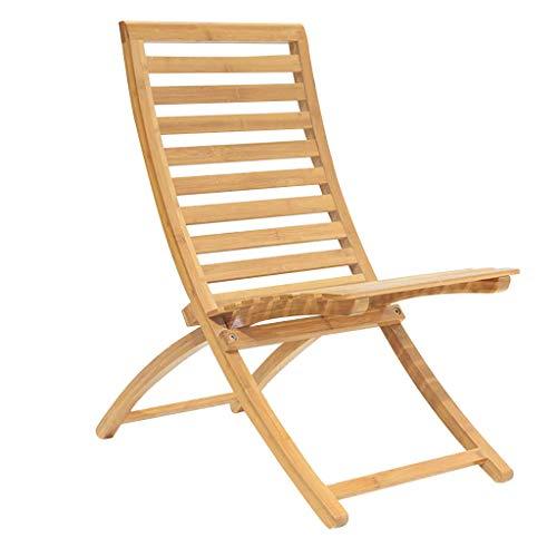 LKK-KK Silla reclinable Silla de Playa Mesa Plegable de bambú Siesta al Aire Libre de Madera de bambú Playa Silla Sillón
