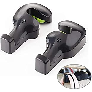 Car Headrest Hanger,Universal Car Back Seat Headrest Hanger Holder Hook for Bag Purse Cloth Grocery ,Pack of 4:Amedama