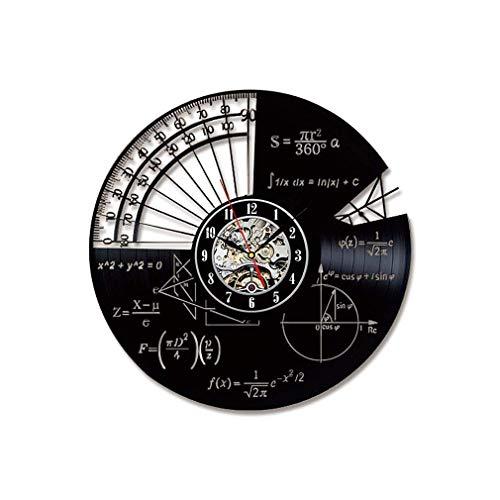 Vinile Record Orologio da parete Argomento matematico Goniometro Formula matematica Silenzioso Orologio da polso non ornamentale Ornamento creativo Orologio da parete per soggiorno Camera da letto