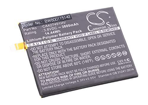 vhbw Litio polímero batería 3800mAh (3.8V) para móvil Smartphone teléfono BQ Aquaris E6