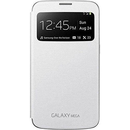 Samsung S View Hülle Schutzhülle Premium Case Cover für Samsung Galaxy Mega - Weiß