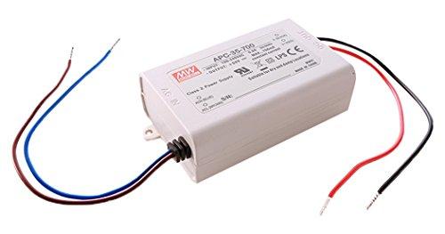 Meanwell Netzgerät, APC-35-700, stromkonstant, 180-264 V, AC/50-60 Hz, 15-50 V, DC, 0,7 A, 35 W 872641