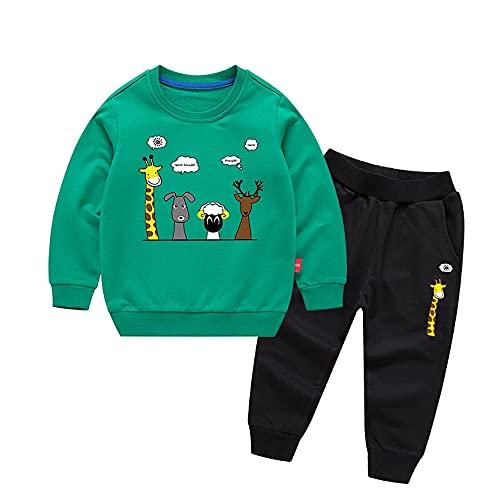 TMOYJPX Conjuntos de Ropa para Niño 1-8 años Top y Pantalones Otoño Invierno Divertido, Navidad Suéters Sudadera Ropa Niño Barata