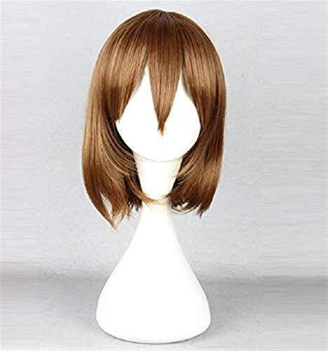 RTUTUR Chara Frisk Wig Brown Heat Resistant Synthetic Hair Undertale Cosplay Wigs + Wig Cap