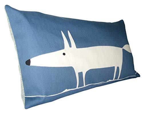 Scion Mr Fox Navy Blue Lohko Bolster Cushion Cover (24 x 12)