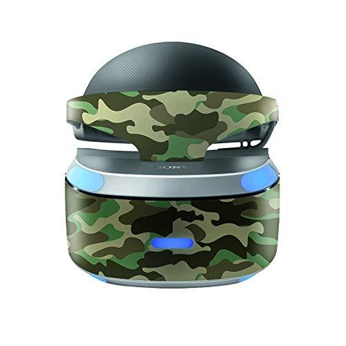 Skins4u Aufkleber Design Schutzfolie Vinyl Skin kompatibel mit Sony PS4 Playstation 4 VR Brille Wood Camo