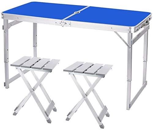LQ Las mesas Mesa Plegable Que acampa 1,6 M de Aluminio Ligero portátil Cubierta Fiesta en el jardín al Aire Libre de Vacaciones de Picnic Barbacoa con Orificio de Parasol