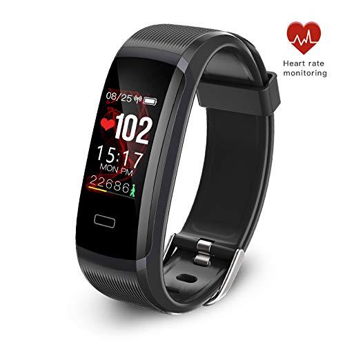 Seegar Fitness Tracker, Tracker attività Personalizzato con cardiofrequenzimetro e Monitor del Sonno, pedometro GPS Track Tracking contapassi, contapassi Impermeabile Bluetooth IP67