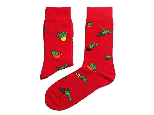 Weri Spezials Herren Socke 'Kaktus', Größe:43/46, Farbe:Rot