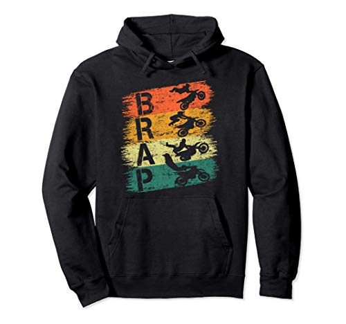 Camiseta Brap Vintage Dirt Bike Motocross Braap Racer Braaap Sudadera con Capucha