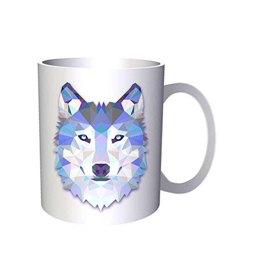 INNOGLEN Loup d'Origami Couleurs d'eau 33 cl Tasse o56