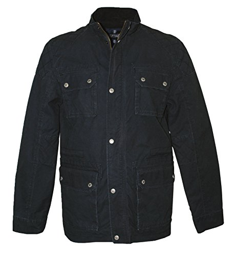 Buffalo David Bitton Men's Cotton Cargo Pocket Jistan Jacket, Charcoal Carbon (XX-Large)