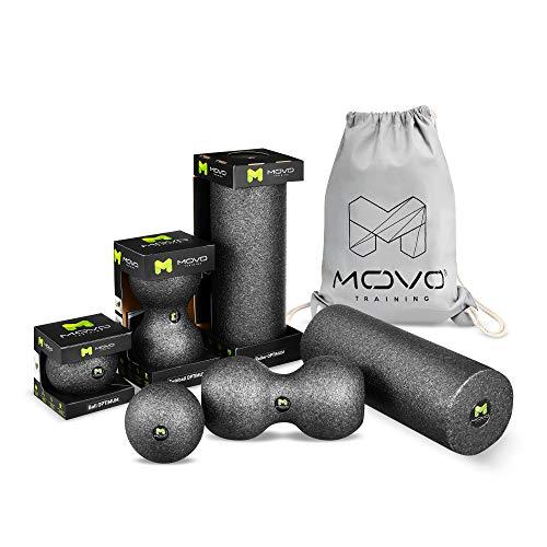 Regeneration und St/ärkung der Muskeln im Nacken und R/ücken MOVO Duoball Pr/ävention von Verletzungen R/ückenmassagerolle 23 x 12 cm