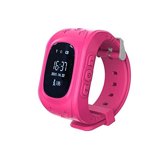 Q50 - Reloj inteligente para niños con GPS y rastreador de posicionamiento para monitoreo inteligente SOS (color: NO.2)
