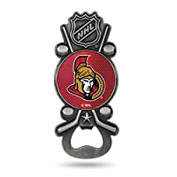 NHL Rico Industries Magnetic Metal Bottle Opener Party Starter, Ottawa Senators