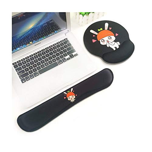 xinxinchaoshi Wrist Rest Keyboard Wrist Rest and Mouse Pad with Wrist Support,Non Slip Mousepad Suitable for learning Easy Typing Comfort Wrist Rest Pad (Color : B)