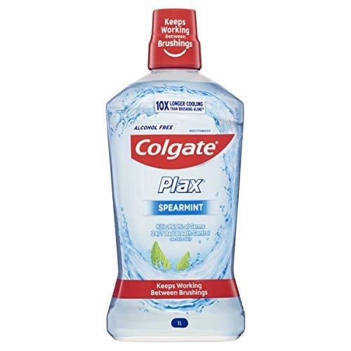 Colgate Plax Antibacterial Mouthwash 1L, Alcohol Free, Spearmint, Bad Breath Control