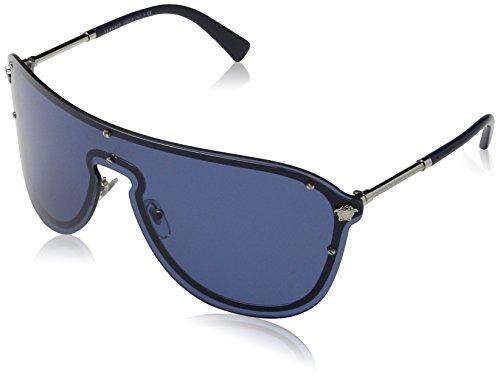 Versace 0Ve2180, Gafas de Sol para Mujer, Marrón (Silver/Blue), 58