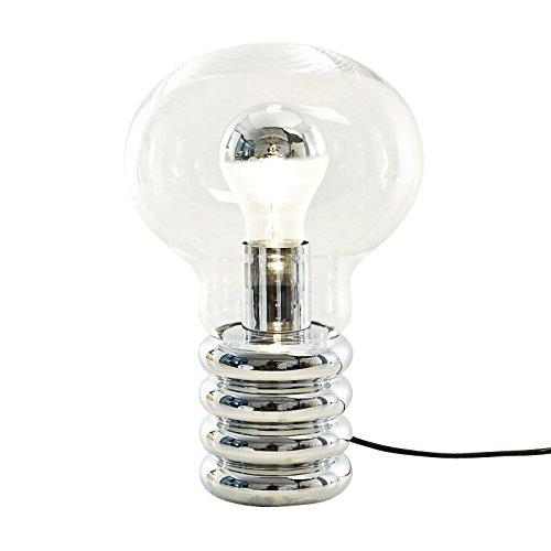 Ingo Maurer Bulb–Lámpara de mesa, hochglanzverchromt metal cristal