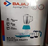 Bajaj Twister Fruity 750-Watt Mixer Grinder with 3 Jars (White/Blue)