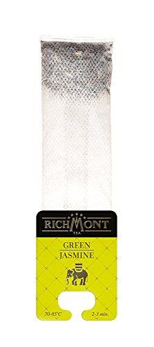 RICHMONT GREEN JASMINE 50 Stk. Premium Selected Tee in Beuteltee. Teebeutel mit einzigartiger Aufhängung für Teekanne oder Teetasse
