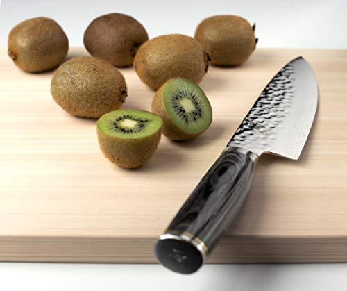 Shun Premier Grey Chef Knife, 8 inch VG-MAX Steel Blade, Cutlery Handcrafted in Japan