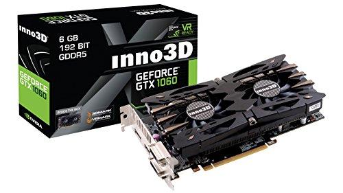 Inno3D GeForce GTX 1060X26GB NVIDIA GeForce GTX 10606GB–Graphics Cards (Active, NVIDIA, GeForce GTX 1060, GDDR5, PCI Express x163.0, 7680X 4320Pixel)