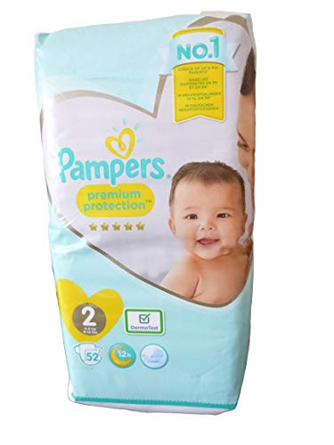 Pampers Premium Protection Größe 2, 52 Windeln, 4-8 kg, Essential Pack, je 52 Stück
