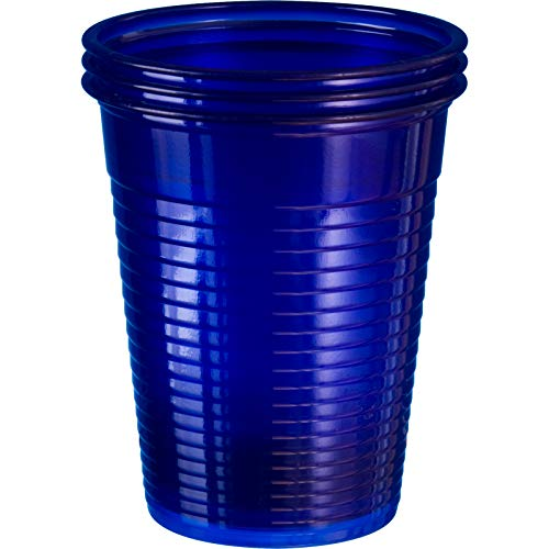 wellsamed 144981 100 Stück Einwegbecher Blau Plastikbecher Trinkbecher Becher Kunststoff Einweg 0,18 Liter
