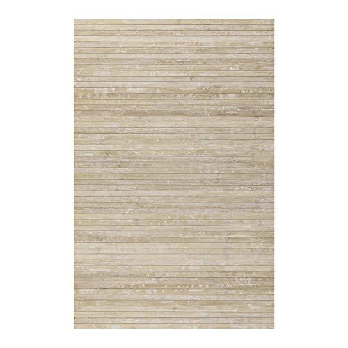 STORESDECO Alfombra de bambú Natural Antideslizante Ideal para salón, Pasillo, baño… ¡Efecto...