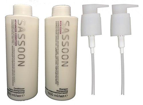 Sassoon Sassoon Rich Clean Shampoo 1000 ml + Advanced Conditioner 1000 ml + 2x Dosierpumpe