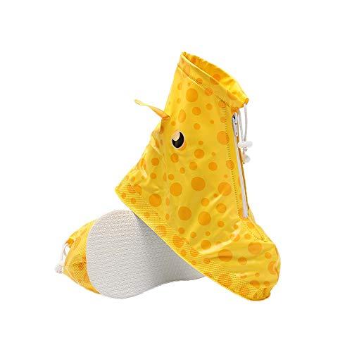 1 paio Copriscarpa impermeabile per bambini Copriscarpa antipioggia riutilizzabile per bambini, Modello di fulvo giallo