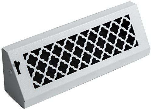SteelCrest BTU15BBSWH Bronze Series Designer Baseboard Vent with Air-Volume Damper, White