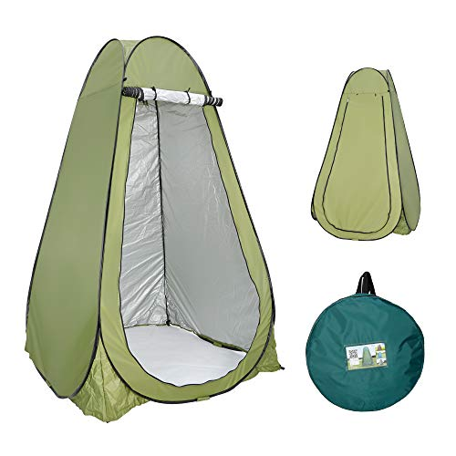 F2C 6.3FT Pop Up Privacy Tent Instant Shower Tent Portable Outdoor Rain Shelter, Camp Toilet, Dressing Changing Room with Carry Bag, Window, Stakes
