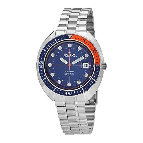 Bulova Oceanographer reloj automático para hombre con esfera azul 96B321