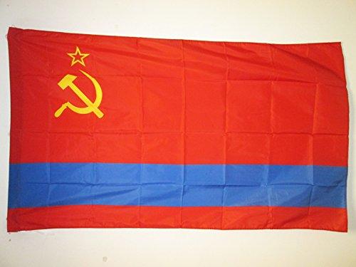 AZ FLAG Bandera de la REPÚBLICA SOCIALISTA SOVIÉTICA DE KAZAJISTÁN 150x90cm para Palo - Bandera KSSR 90 x 150 cm