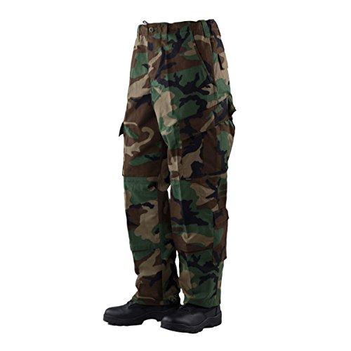 Tru-Spec Mens Tactical Response Uniform Pants Pantaloni Casual, Woodland, Medium Lungo Uomo