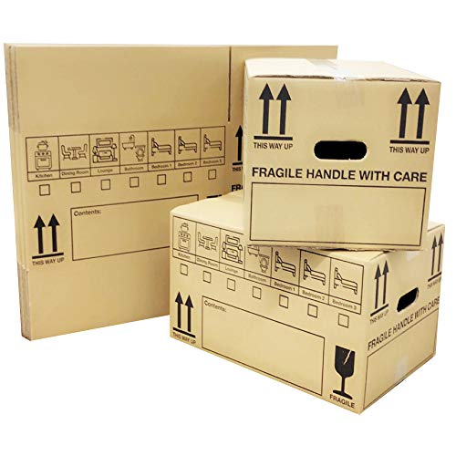 PPD New 20 Large Cardboard House Moving Boxes - Removal Packing Box