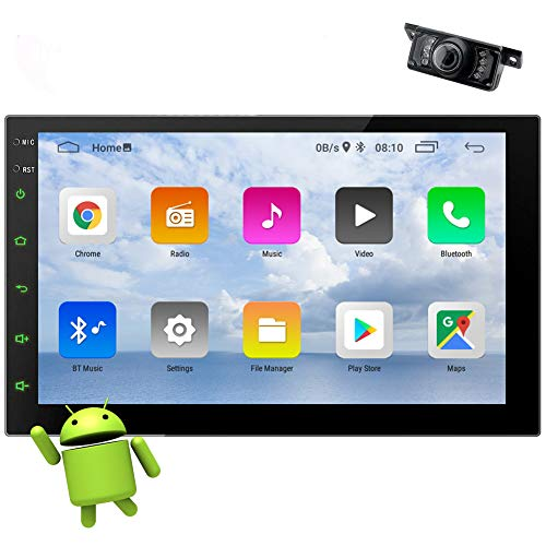 EinCar Double Din Stereo Android Radio 10.0 OS Car Stereo with Backup Camera 7 inch HD Touch Screen GPS Navigation Quad-Core Head Unit Support Bluetooth FM/AM WiFi Mirror Link SWC USB/SD