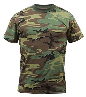 Rothco Camo T-Shirts, Woodland Camo, 2X-Large