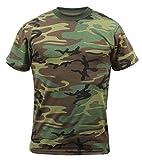 Rothco T-Shirt, Woodland Camo, Medium