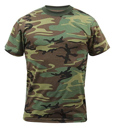 Rothco Uf Short Sleeve T-shirt Woodland Camo, X-Large